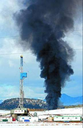 In 2005, Bill Barrett Corp. burned off a natural gas well pit south of Silt.