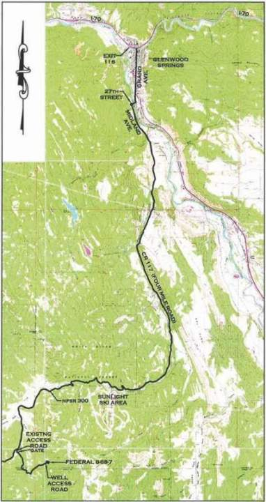 Thompson divide access route