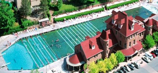 Hot Springs Pool measures 405 ft by 100 ft & holds more than a million gallons of water (31,746 barrels)