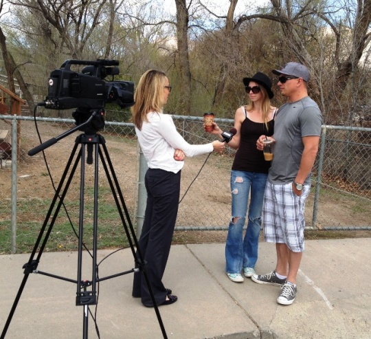 Amelia Garrison and Travis Smith talk to KKCO-11 News Reporter Christy Dimond in Parachute today