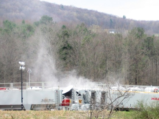Bill Ferullo captured fracking dust rising from a natural gas site near his Pennsylvania home.