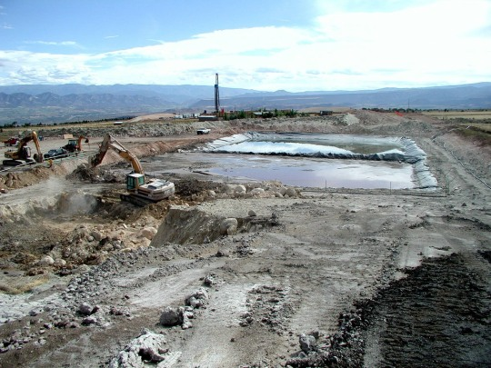 A wastewater pit somewhere south of Silt