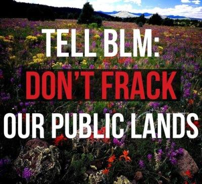 dont frack public lands