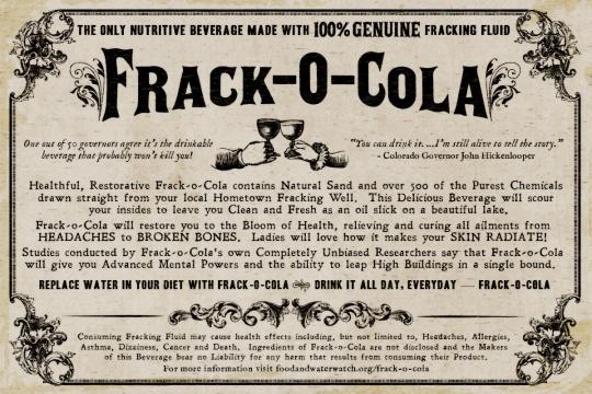 frack-o-cola poster