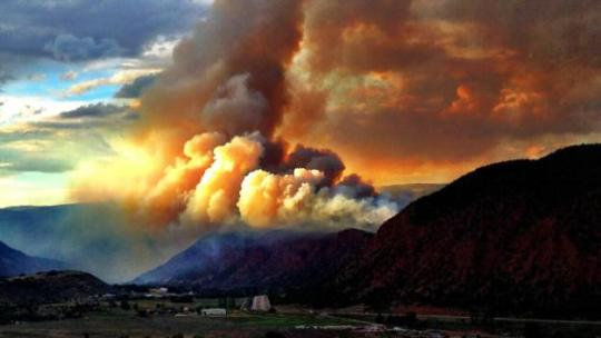 Red Canyon Fire (photo credit: Doug Self)