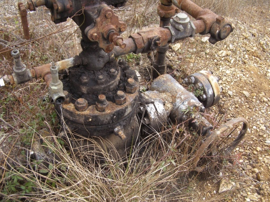Abandoned unplugged wellhead in North Louisiana. A leaking, abandoned unplugged wellhead was unearthed in DeBeque in July.