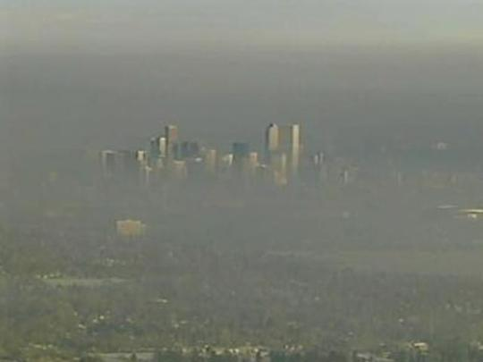 Denver ozone pollution -- April 2012