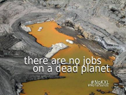 no jobs tar sands