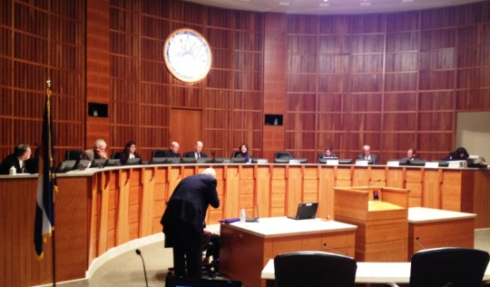 The AQCC Commissioners gathered moments before the hearing began - February 19, 2014