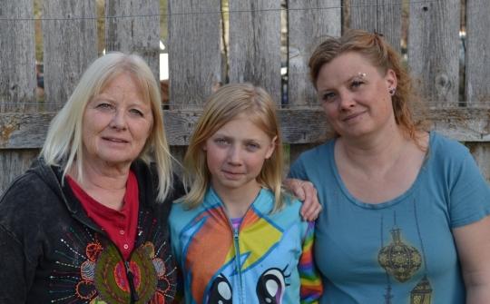L to R: Peggy Tibbetts, Hailey Kwiatkowski, Ema Tibbetts