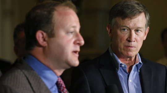 Congressman Jared Polis and Governor Hickenlooper