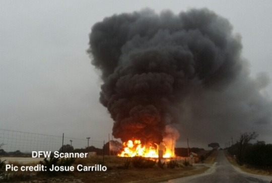 This gas well fire in Somervell County, Texas, in December 2013, was caused by lightning