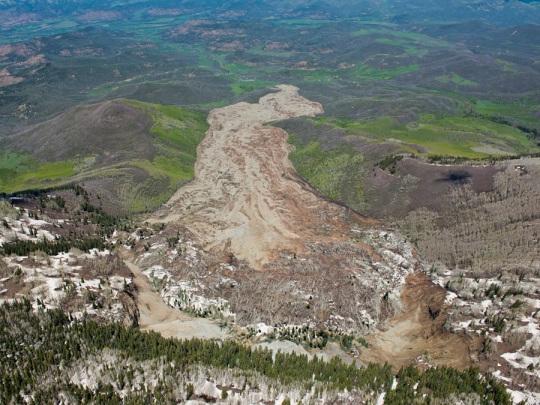 West Salt Creek landslide May 2014 [Photo by John Wark]