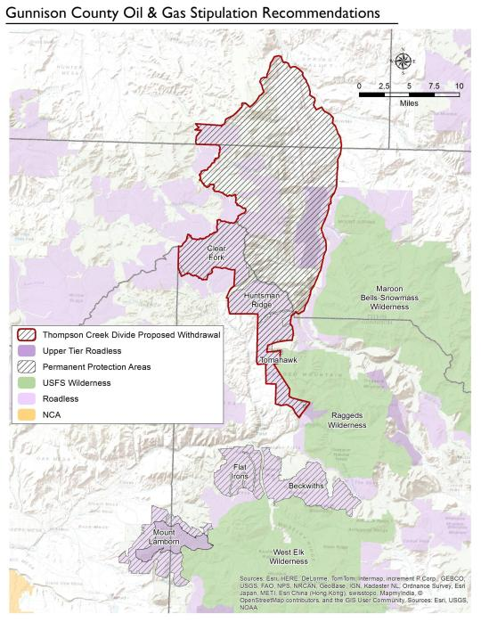 This map shows the adjusted legislative boundary of the Thompson Divide area following an agreement with Gunnison Energy. [Source: Thompson Divide Coalition]
