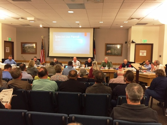 Garfield County Planning Commissioners prepared for a long evening