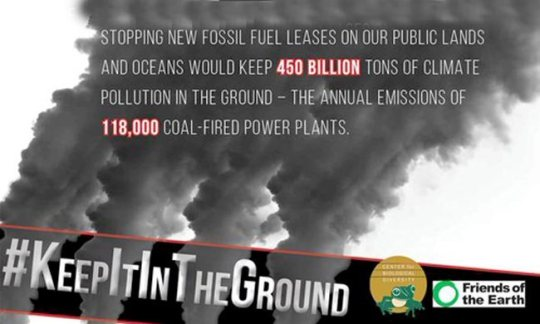 Keep fossil fuels in ground