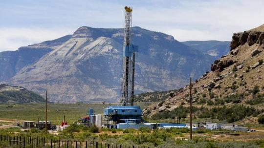 WPX drilling rig near Rifle