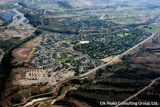 battlement mesa aerial view