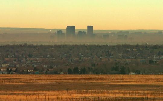 FEATURE16-A brown cloud surrounds the city, Friday, as cooler weather moves into the area an inversion keeps much of the smog from moving out. RJ Sangosti/ The Denver Post (Photo By RJ Sangosti/The Denver Post via Getty Images)