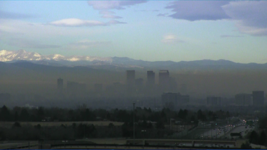 Denver's brown cloud, December 2014 [Source: CBS]