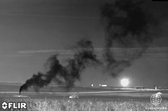 Massive pipeline venting methane and fugitive toxic emissions in Epping, ND, on September 15, 2015. Click here to watch video